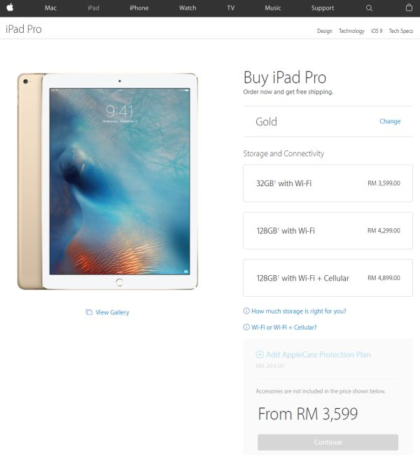 The Apple Ipad Pro Can Now Be Bought Online Starts From Rm3 599