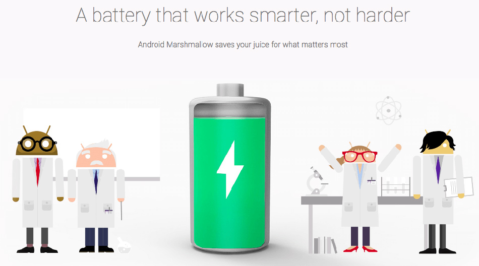 Doze and App Standby prevent your device from guzzling too much battery when it's not in use. (Image Source: Google)