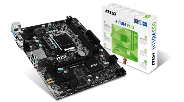 The MSI H110M Eco has only four USB 3.0 ports and four SATA 6Gbps ports. (Image Source: MSI)