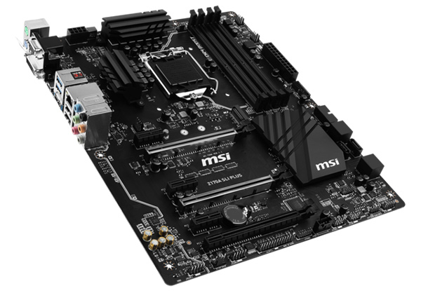 MSI's new Z170A SLI Plus board oozes stealth with an all-black