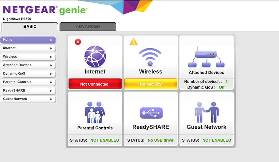 The Netgear Genie setup user interface is straightforward to use if you do not intend to setup additional features such as Parental Controls and ReadySHARE.