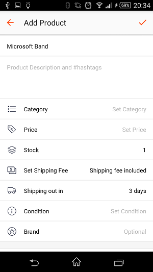 Step 3 is to list more details, add hashtags in the description and set your sale options.