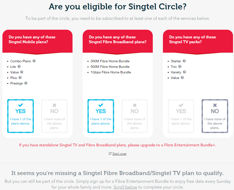 You can use the checker on the website to see your eligibility for Singtel Circle.