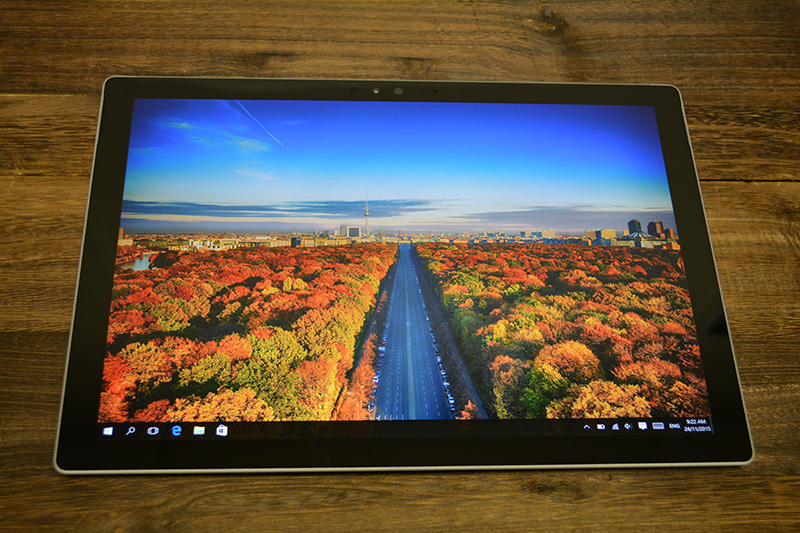 The Surface Pro 4 sports a larger and higher resolution 12.3-inch PixelSense display and a narrower bezel than the Surface Pro 3.