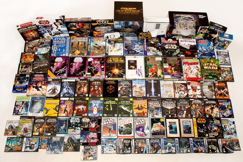 Believe it not, this isn't a complete representation of all Star Wars games. Some titles, like the arcade games, are missing.