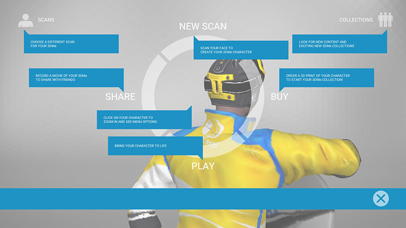There are a range of options for what you want to do with your virtual avatar.