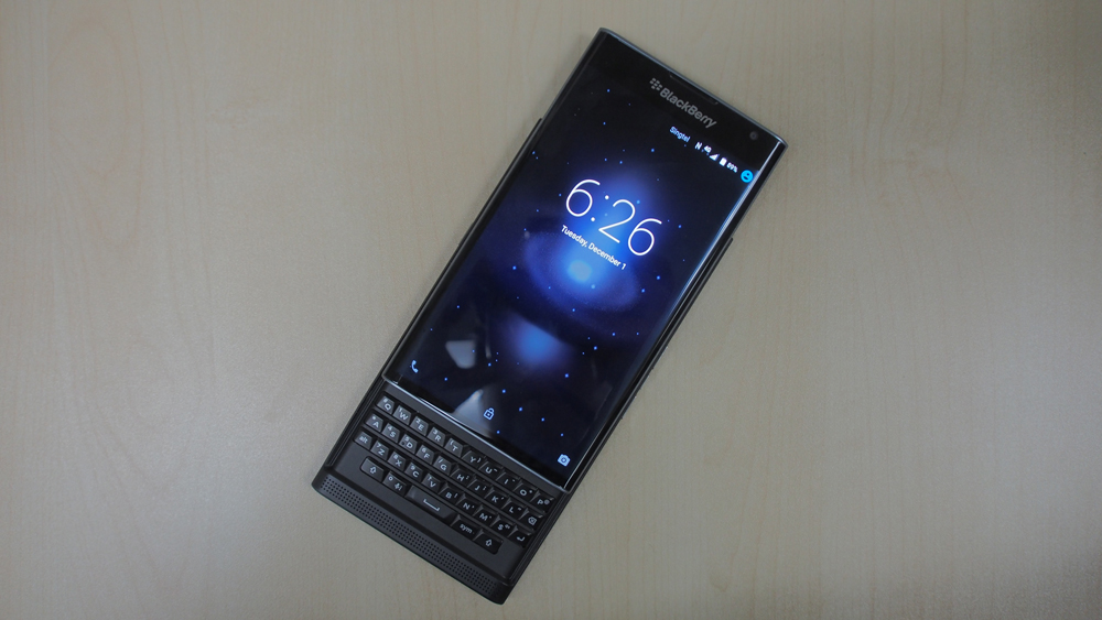 BlackBerry plans to release a second Android-based phone later this year. Seen here is the BlackBerry Priv.