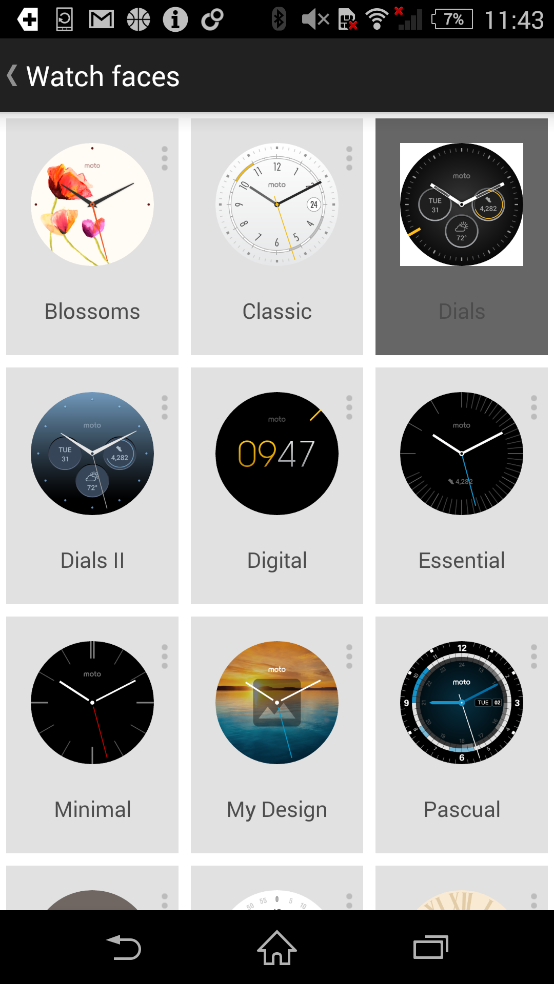 You get some new watch faces with built in widgets on the new Moto 360 (although they're now also made available to last year's model).