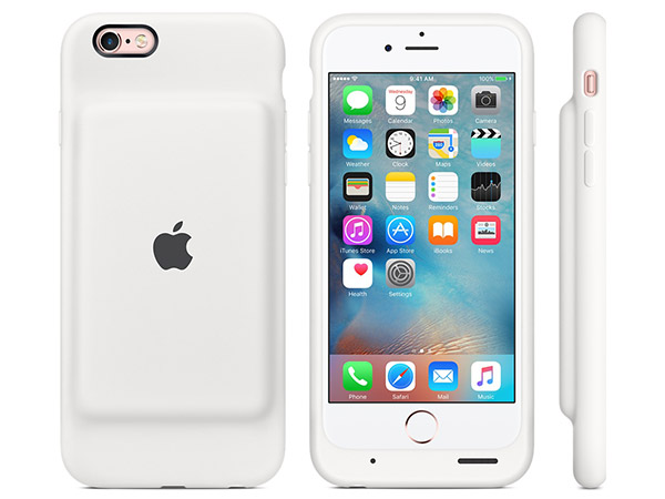 iPhone 6S Smart Battery Case in white. (Image source: Apple.)