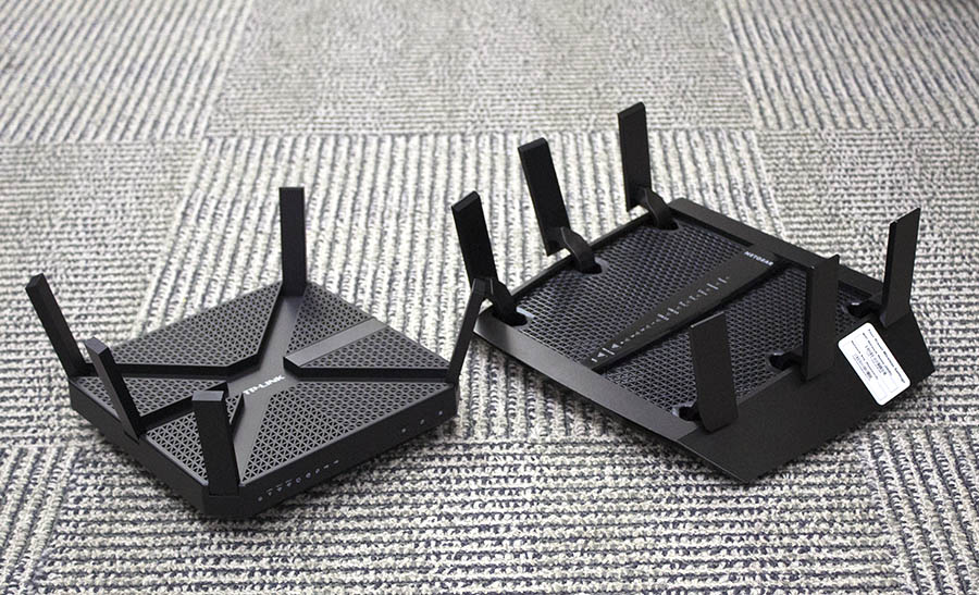 The TP-Link Archer C3200 and Netgear Nighthawk X6 joins the previously reviewed Linksys EA9200 in this three-way battle.