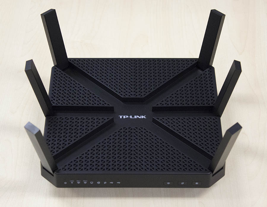 The TP-Link Archer C3200 is actually relatively compact for an AC3200 class router.