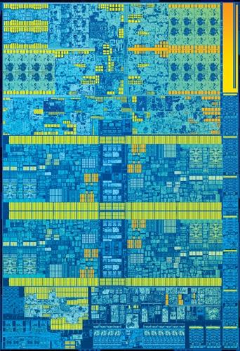 The 6th generation Skylake Intel Core desktop CPU die shot. (Image source: Intel)