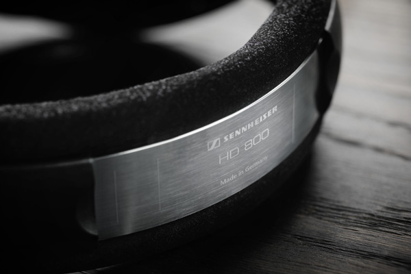 """Emblazoned on the head strap of each headphone is the words """"Made in Germany""""."""