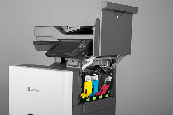 The new Lexmark laser printers and MFPs are powered by powerful quad-core processors and boast the fastest print and copy speeds available in their respective A4 classes. Seen here is the CX725. (Image source: Lexmark.)