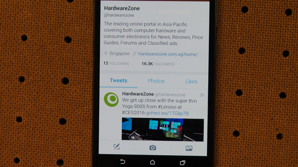 Text looks good on the HTC One A9.