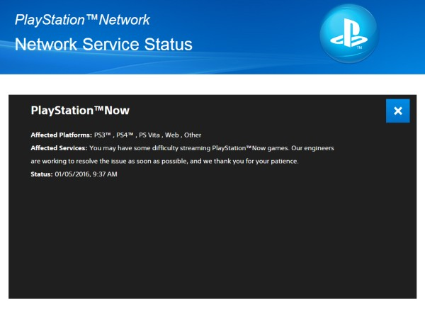Guess it's starting to seem like tradition to down Sony's PlayStation Network (PSN) online service at the beginning of each new year.