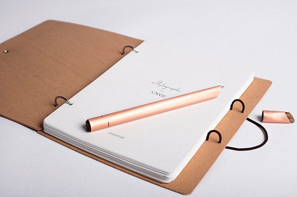 A Stylograph set consists of notebook, pen, and dedicated paper.