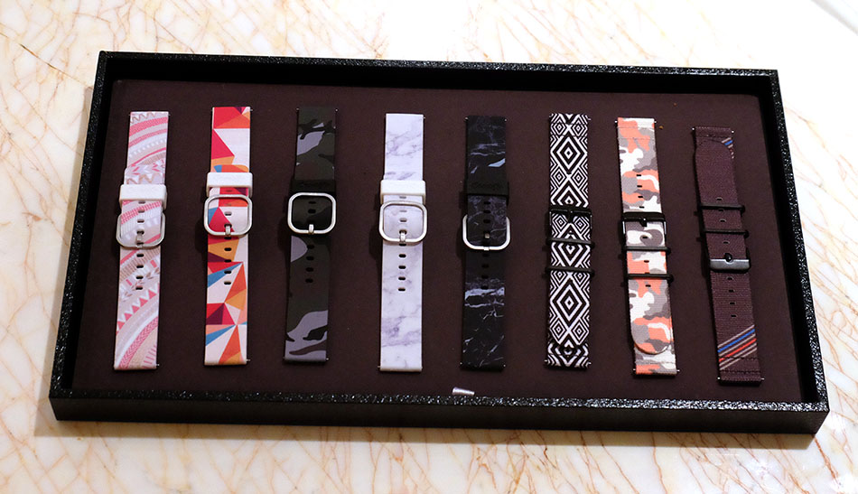 A selection of Samsung's new Gear S2 straps.