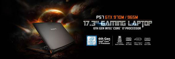 The P57 is one of the numerous notebook models announced today.