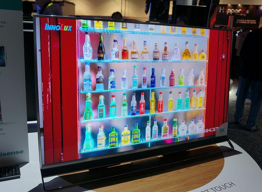 HiSense and its 65-inch ULED based 8K TV showcase.