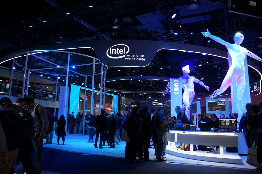 Intel's booth.