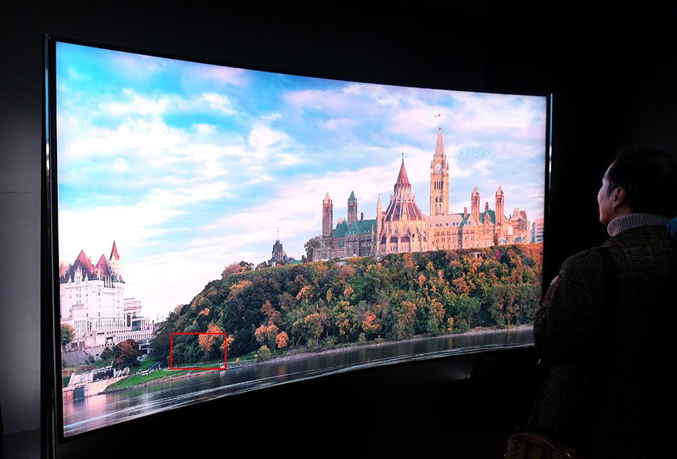 Check out the level of detail on Samsung's 98-inch curved 8K