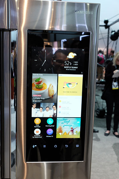 samsung refrigerator touch screen. the fridge also has advanced humidity and temperature sensors, a \ samsung refrigerator touch screen i