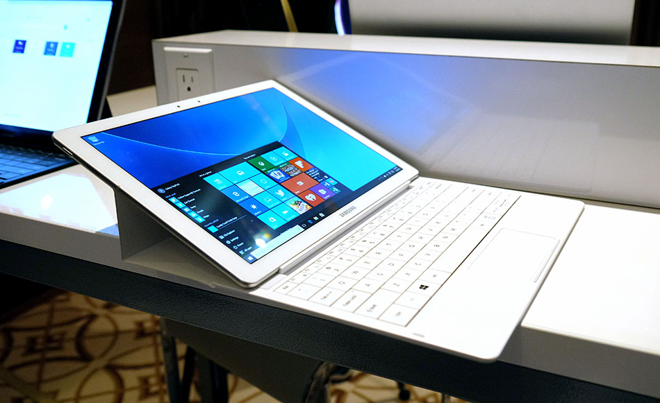 The keyboard case lets you position the tablet at two angles.