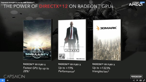 Some of the programs that are currently benefiting from DirectX 12 and AMD's Asynchronous Compute Engine.