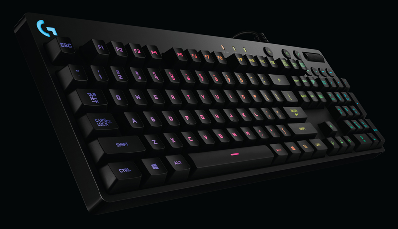 G810 Orion Spectrum RGB mechanical keyboard - quite a mouthful.