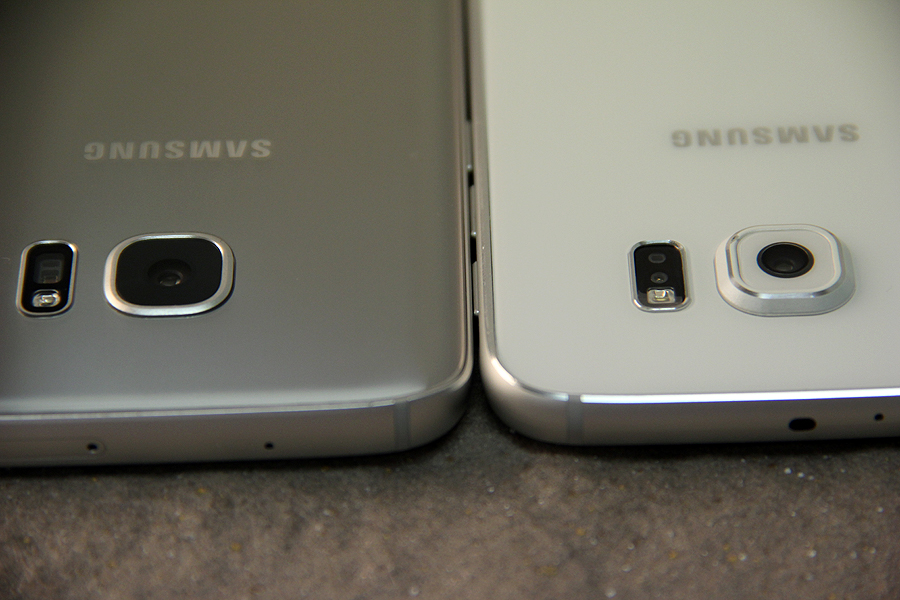 Samsung Galaxy S7 (left) and Samsung Galaxy S6 (right). Notice the difference in the camera bump size?