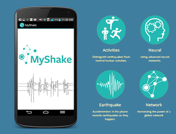 The MyShake app lets your Android phone become an