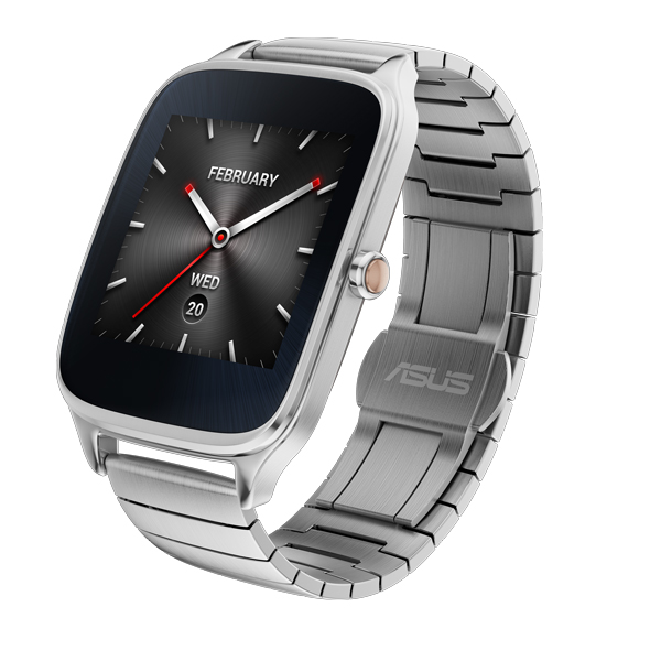 Here we have the Silver band variation of the ASUS Zenwatch 2.