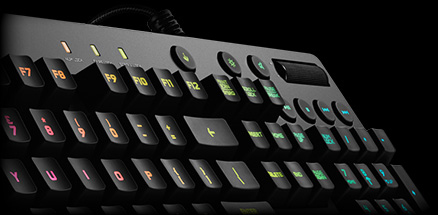 16.8 million colors available for the G810's backlit keys, and they can be individually customized too.