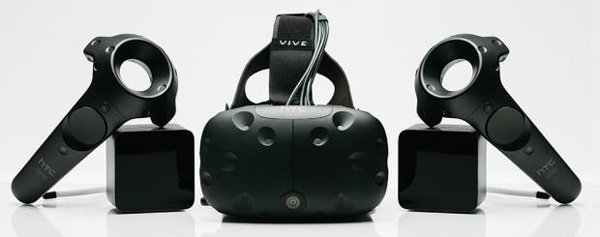 You get the controllers, the HTC Vive headset and the two wireless cameras as well as two free games, when you buy the HTC Vive.