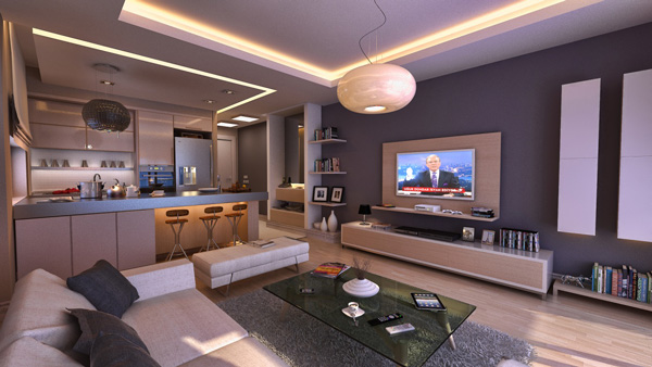 Living Room Building A High Tech Home