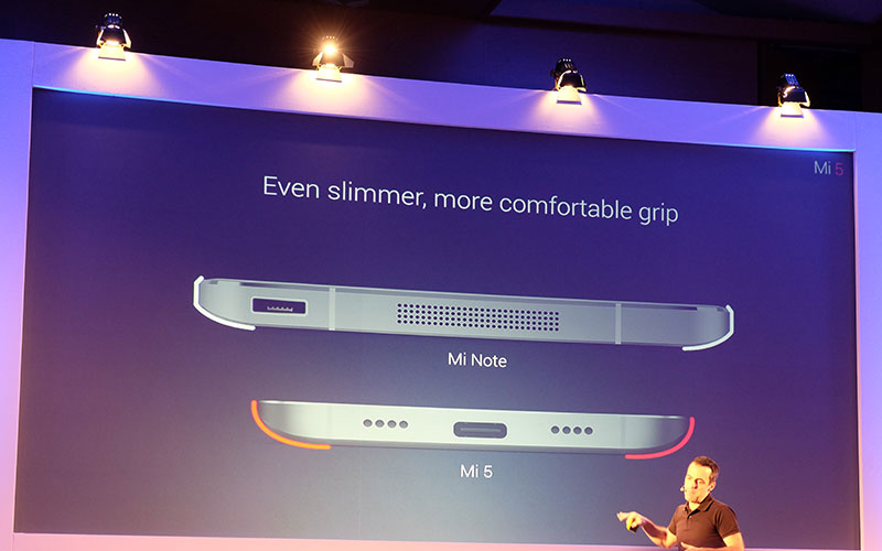 A slide from the Mi 5's launch event back in February.