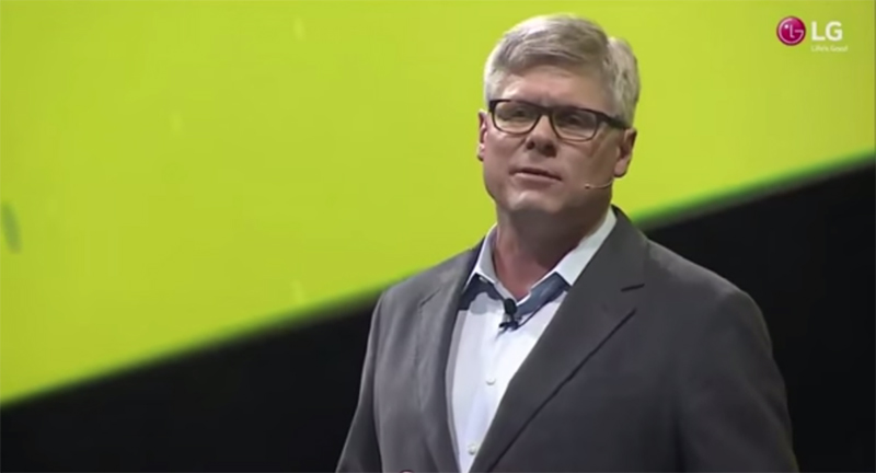 Steve Mollenkopf, Qualcomm's CEO speaking at LG's G5 launch.