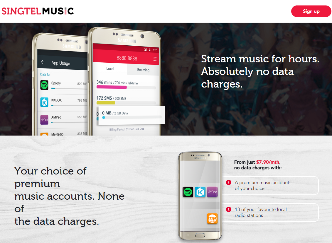Singtel launches unlimited mobile data streaming for premium Spotify