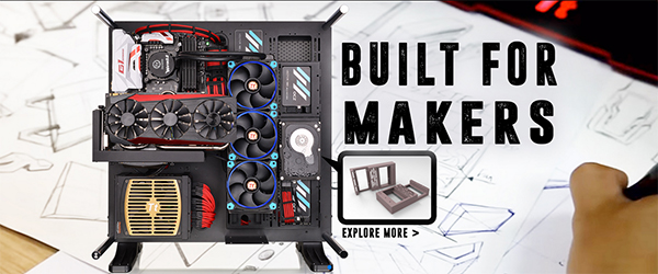 Thermaltake launches 3DMakers website with 3D-printable
