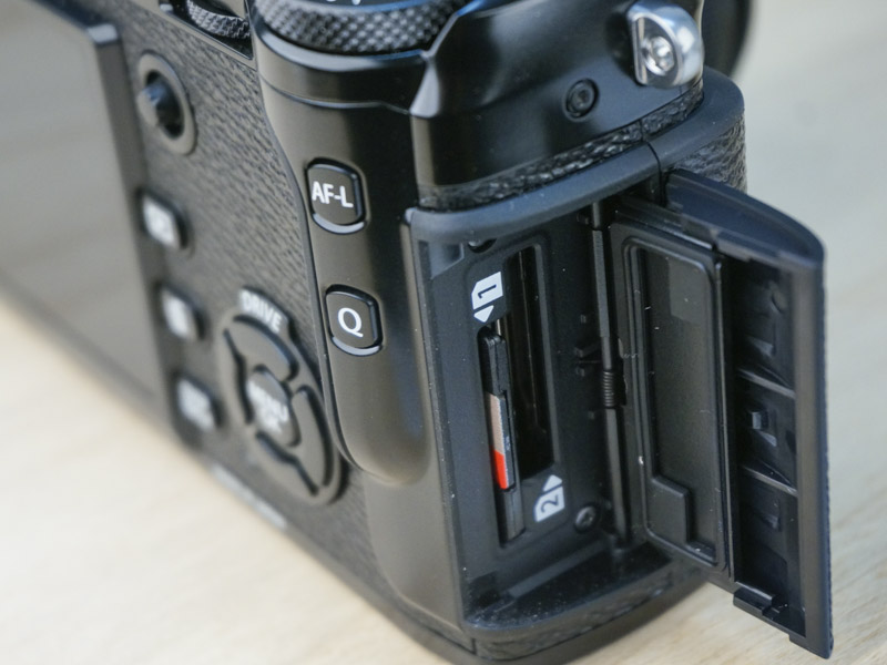 Dual memory card slots are always handy for backup or extra storage.