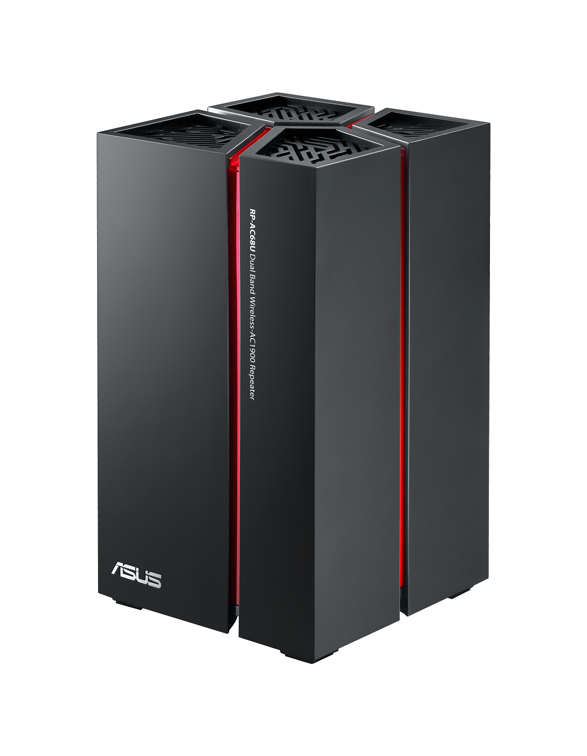 ASUS's new RP-AC68U wireless repeater that supports a combined speed of up to 1900Mbps.
