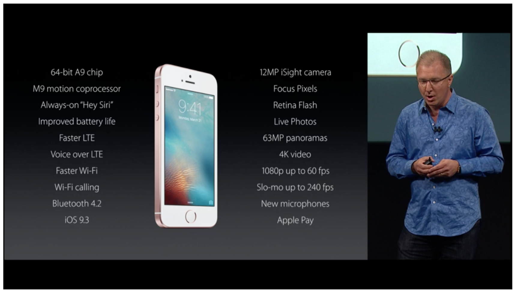 A summary of the features coming to the iPhone SE.