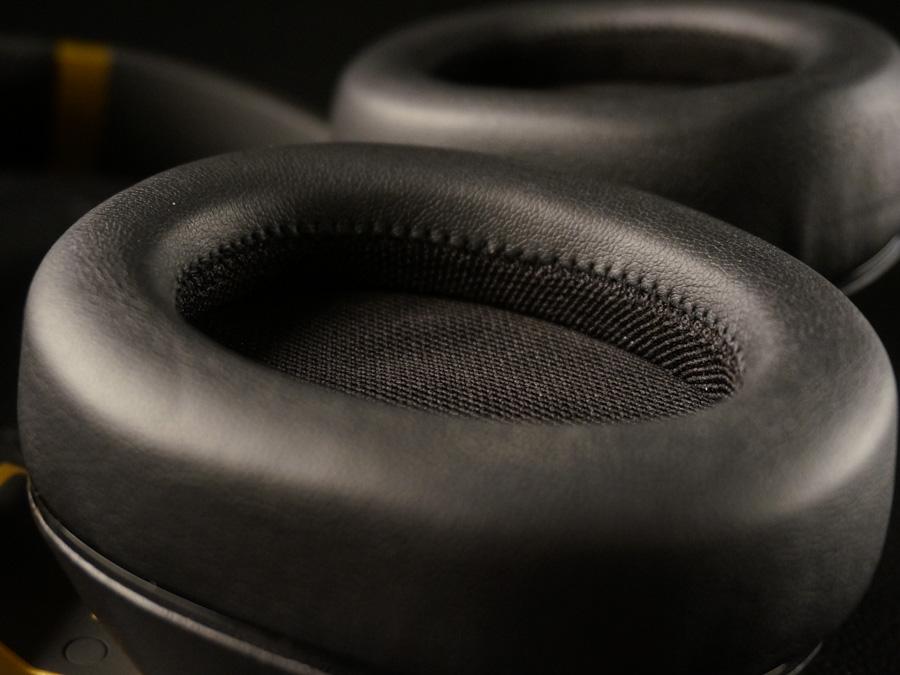 Plush, dual-density memory foam ear pads make these headphones a treat to wear.