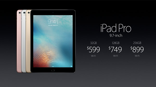 Le Announces 9 7 Inch Ipad Pro Prices Start At S 898 For The 32gb Wi Fi Model
