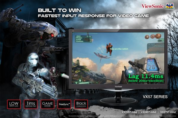 The new monitors that were launched include the 22 inch VX2257-mhd, 24 inch VX2457-mhd, and  27 inch VX2757-mhd Full HD monitors respectively