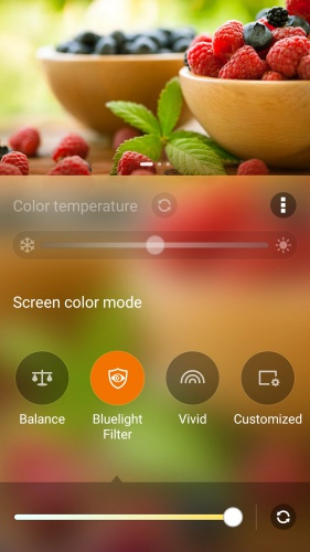 You can adjust the screen color mode via Settings > Display > Screen color mode.