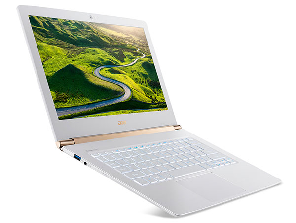 The Aspire S 13 in Pearl White. It is also available in Obsidian Black.