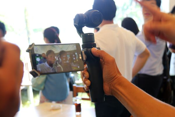 The DJI Osmo makes it easy to take stable hand-held videos, while your smartphone acts as the display.