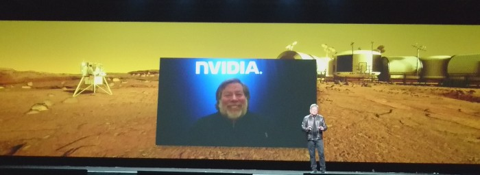 "During the VR demo of Mars 2030, we got a surprise appearance from Steve ""Woz"" Wozniak, who was also piloting the Mars Rover in the VR demo."